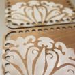 Téglalap 11x15 cm-es horgolható faalap - Wood Stitch Collection