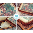 Téglalap 18x25 cm-es horgolható fa alap - Wood Stitch Collection