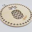 Ananász - 15 cm-es horgolható faalap