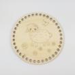 Bárányka - Kör 15 cm-es horgolható faalap