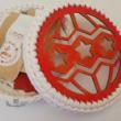 Ünnepi csillagok - 20 cm-es horgolható fa alap - Wood Stitch Collection