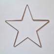 Körbehorgolható fém csillag - 20 cm