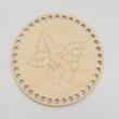 Epres horgolható faalap - kör 15 cm