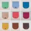 Íves bőr táskafedél - Acélkék
