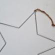 Körbehorgolható óriás fém csillag - 38 cm