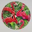 Flamingók - 20 cm-es horgolható fa alap