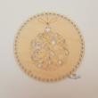 Karácsonyi gömb - 20 cm-es horgolható fa alap - Wood Stitch Collection