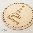 Hit, Béke, Öröm, Szeretet -15 cm-es horgolható fa alap - Wood Stitch Collection