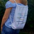 Horgolótűs vászon hátizsák