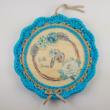 Hello Tavasz - 20 cm-es kör alakú horgolható fa alap - Wood Stitch Collection
