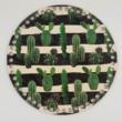 Kaktuszok - 20 cm-es horgolható fa alap