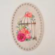 Kalitka virágokkal - 20 cm ovális - Vidéki romantika sorozat