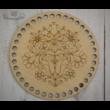 Folk kör 15 cm-es horgolható fa alap - Wood Stitch Collection