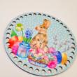 Nyuszi húsvéti készülődése - kosár készítő csomag - Pöttyös sorozat