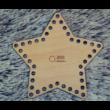 Csillag alakú 15 cm-es horgolható falap - Wood Stitch Collection