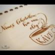 """""""Nincs lehetetlen, ha van elég kávé"""" feliratos horgolható tálca alap - Wood Stitch Collection"""