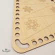 Modern karácsonyfa - horgolható fa lap - Wood Stitch Collection