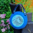 Patentos bőr kézi táskafogó párban - Gesztenye - 30 cm