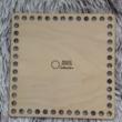 Négyzet 15 cm-es horgolható fa alap - Wood Stitch Collection
