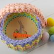 Répa mobil - 15 cm-es kör alakú horgolható faalap - Wood Stitch Collection