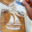 WSC stencil - Vitorlás hajó