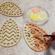 3 db-os tojás alakú horgolható fa alap szett - Wood Stitch Collection