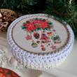 Varázslatos karácsony - 20 cm kör horgolható faalap