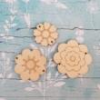 Felvarrható virágok - 3 db-os szett