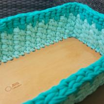 Téglalap 13x35 cm-es horgolható faalap - Wood Stitch Collection