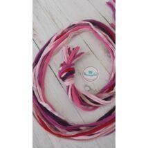 Rózsaszín-lila kavalkád - textilékszer készítő szett