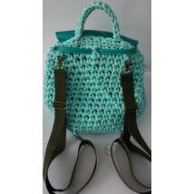 erdőzöld hátizsákpánt antikolt színű szerelékkel