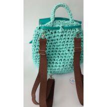 pamut csokibarna hátizsákpánt antikolt színű szerelékkel