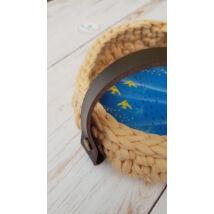 Kosár fül csavaros - rövid - csokibarna