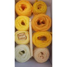 Sárga árnyalatok - Bon-bon pólófonal válogatás horgolótűvel