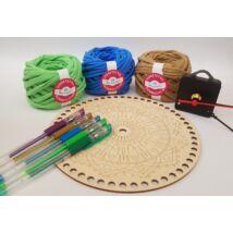 ÉNIDŐ horgolt mandala óra készítő csomag - BÉKE - Wood Stitch Collection