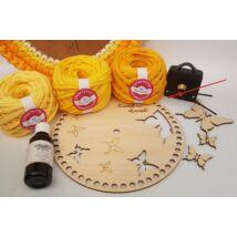 """""""Kövesd az álmaid!"""" óra készítő csomag - Wood Stitch Collection"""