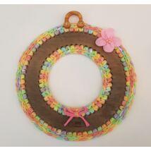 Kopogtató/koszorú 25 cm-es horgolható faalap - Wood Stitch Collection