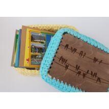 Fecskék a dróton 15x20 cm-es téglalap alakú horgolható fa alap - Wood Stitch Collection