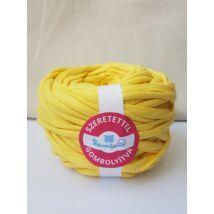 Világos sárga színű pólófonal