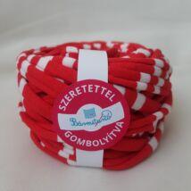 piros-fehér csíkos pólófonal