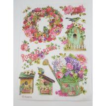 Rizspapír - Vintage kert