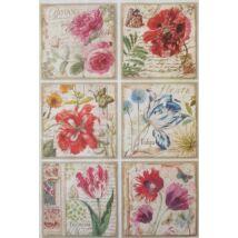 Rizspapír - Kerti virágok