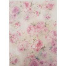 Rizspapír - Rózsaszín rózsák