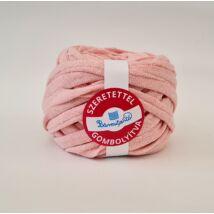 Púder rózsaszín pólófonal - szalag szerű anyag