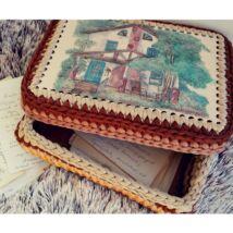 ÚJ! Téglalap 15x20 cm-es horgolható fa alap - Wood Stitch Collection