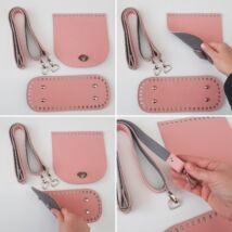 DUAL táska készítő szett szürke-rózsaszín