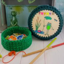 Béka Béla tavaszváró bulija- doboz készítő szett - Wood Stitch Collection