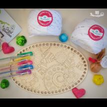 Horgolható felnőtt színező csomag - ajándék magbonbonnal