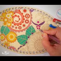 Horgolható felnőtt színező készlet - Wood Stitch Collection