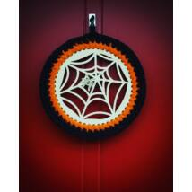Halloween kopogtató 20 cm-es horgolható falap - Wood Stitch Collection
